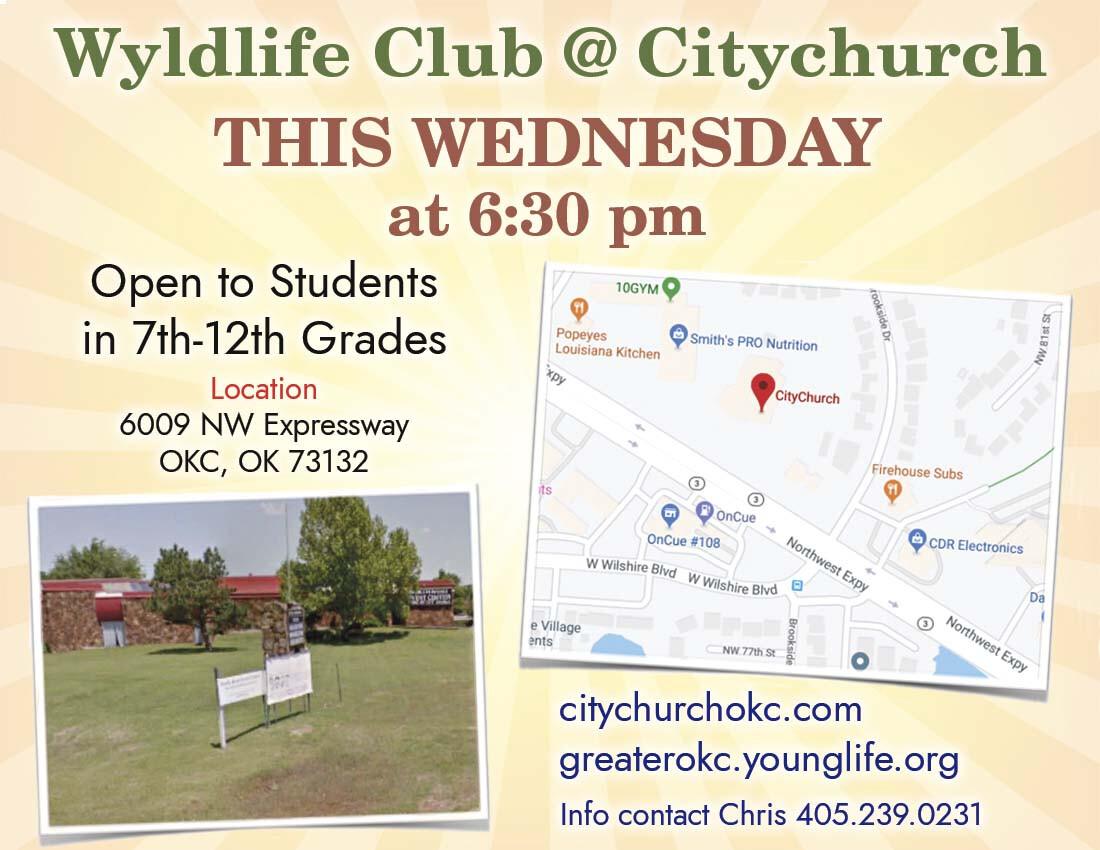 Wyldlife Club youth group meets every Wednesday